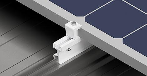 Estrutura Solar Group para telha zipada metálica